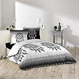 J&K Markets Housse de couette 220x240cm + 2 taies d'oreillers 100% coton - Attrape-rêve