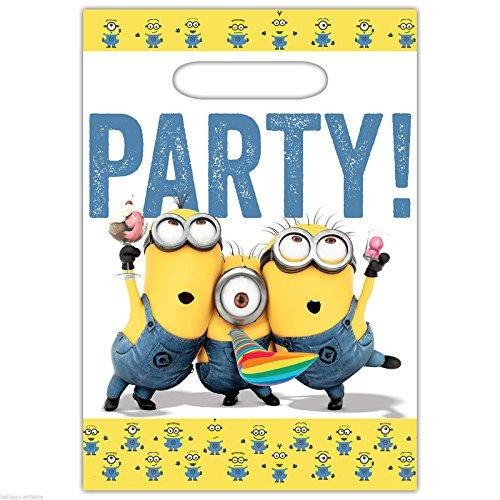 Amscan 999750Minions Kunststoff Partytüten (Malen Gesicht Minion)
