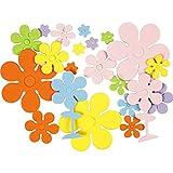 Formas de espuma EVA, tamaño 10 - 60 mm, grosor 2 mm, colores variados, flores,...