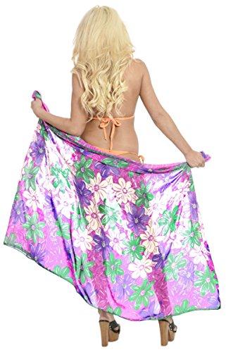 Strandmode Wrap-Bikinibadebekleidung Badeanzug vertuschen Zeitkleidung Schal Pareo Lila