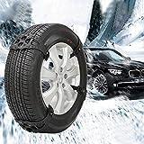 Lucky-all star Auto Reifen Anti-Rutsch-Kette, Einfache Universal Schneekette Schnelle Installation Autoreifen Schneekette Für Winter Schnee Straße 8 STÜCKE (für Zwei Reifen)