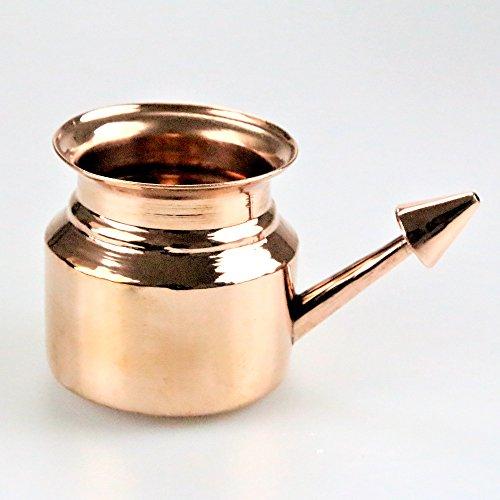 Neti pot de cobre para irrigación nasal