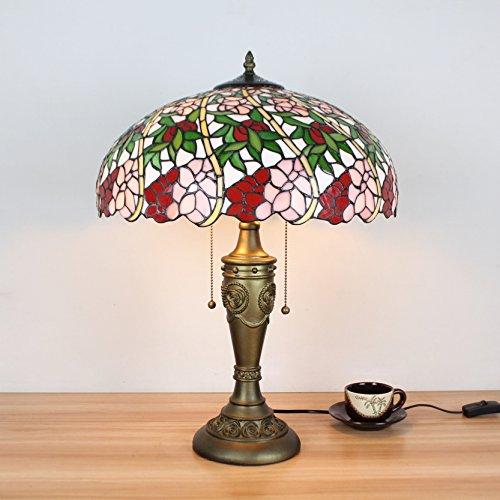 Lampen Tiffany-stil Lampen (16 Zoll Pastoral Minimalist blühende Blumen Tiffany Stil Tischlampe Nachttisch Lampe Schreibtisch Lampe Wohnzimmer Bar Lampe)