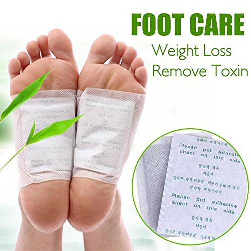 SBE Weight Loss Relieve Fatigue Remove Toxin Foot Skin Smooth Feet Mask Health Foot Care (2 Pairs).