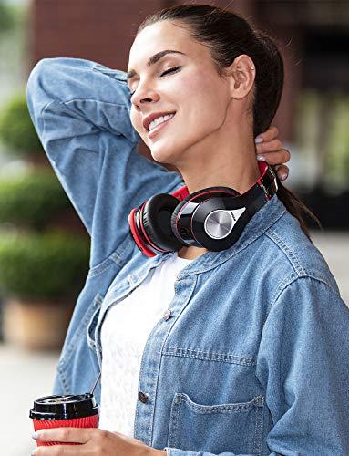 Mpow Bluetooth Kopfhörer over Ear, [Bis zu 20 Std] Hi-Fi Stereo mit Dual 40mm Treiber, CVC 6.0 Noise Canceling für Integriertem Mikrofon Freisprechen - 9