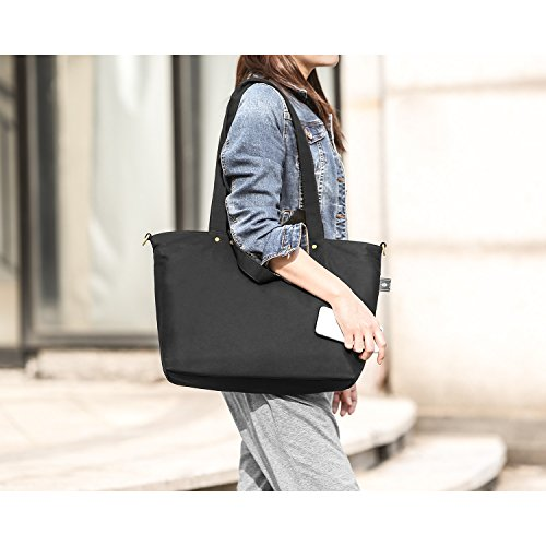 bonthee canvas handtasche damen gro e shopper tasche mit. Black Bedroom Furniture Sets. Home Design Ideas