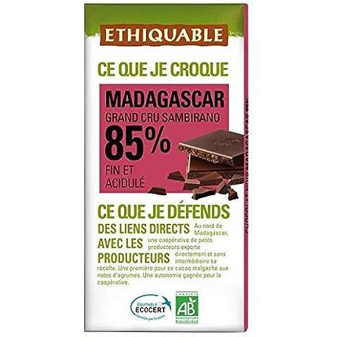 ethiquable Cioccolato Nero 85% di cacao di Madagascar Bio 100g