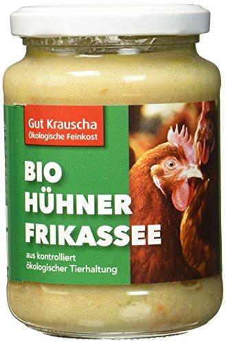 Gut Krauscha Bio Hühnerfrikassee, 2er Pack (2 x 320 g) (Huhn Fleisch Dosen)
