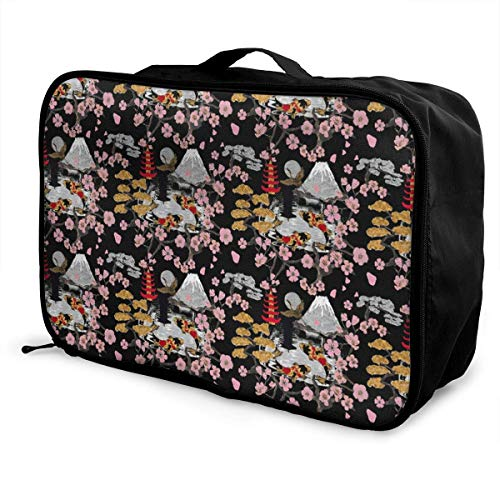 772e3680e140 Portable Luggage Duffel Bag Japan Sukiyaki Travel Bags Carry-on In Trolley  Handle
