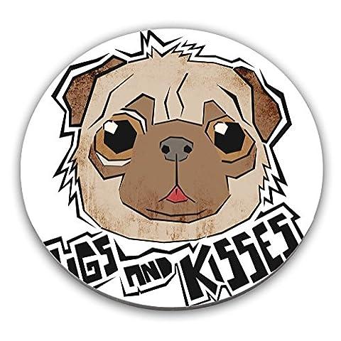Pugs And Kisses Edelstahl Untersetzer