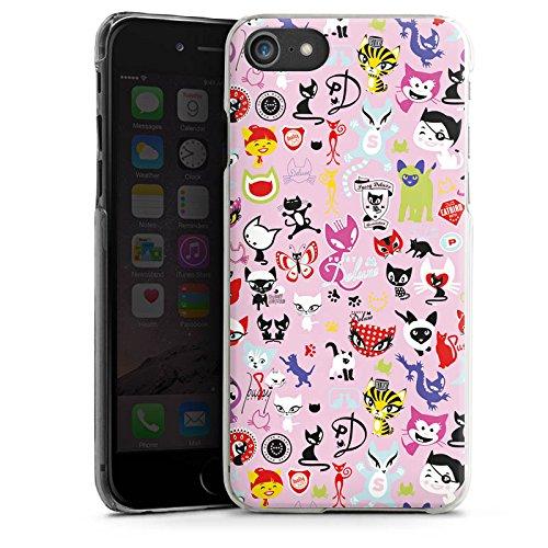 Apple iPhone X Silikon Hülle Case Schutzhülle Comic Katzen Muster Hard Case transparent