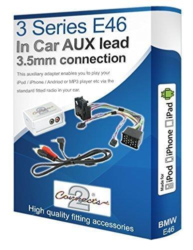 Interface adaptateur pour BMW série 3 E46 Aux compatible iPod iPhone lecteur MP3