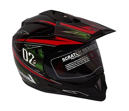 O2 Riderswear Designer Moto Helmet (Black and Red)