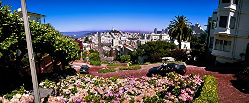 The Poster Corp Panoramic Images - High Angle View of Cityscape Powell Street San Francisco California USA Photo Print (91,44 x 30,48 cm)