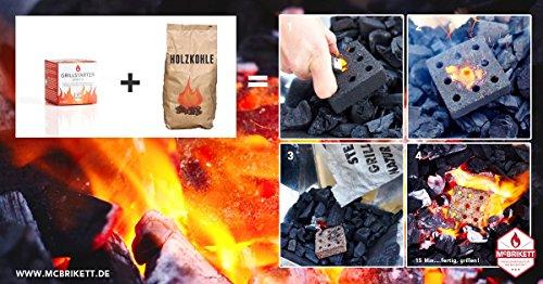 51hdDa3GeVL - McBrikett GRILLSTARTER BRIKETTS 3er Pack