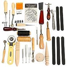 SanSiDo Set de 30 herramientas para trabajar el cuero/costura/escultura