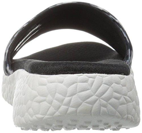 Skechers Cali scorrere Burst Sandalo Black/White