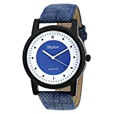Stylox Blue Round Dial Men's Watch