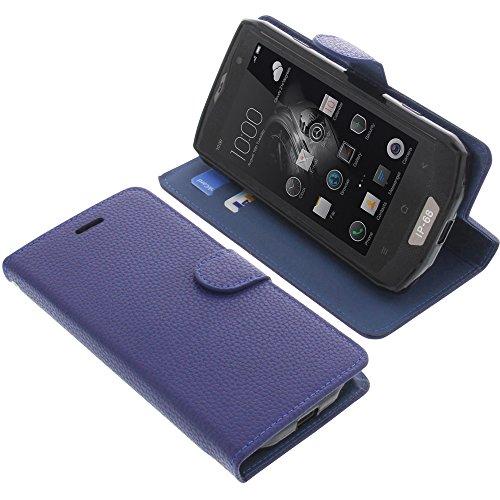foto-kontor Tasche für Blackview BV8000 Pro Book Style blau Schutz Hülle Buch