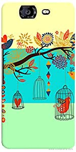 PrintVisa Pattern Bird Cage Case Cover for Micromax Canvas Knight A350