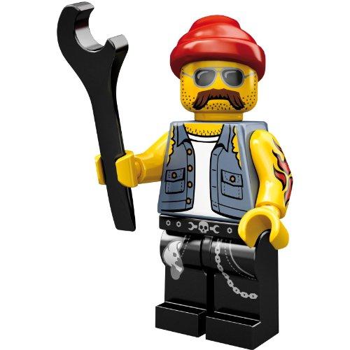 LEGO 71001 - Minifigur Motorrad-Mechaniker aus Sammelfiguren-Serie 10 (Lego Serie 9 Minifiguren)
