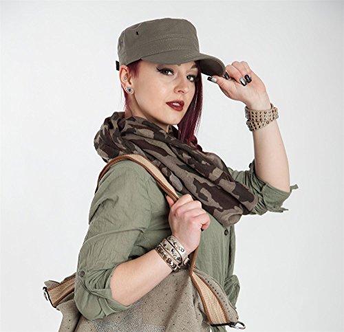 styleBREAKER Cap im Military-Stil aus robustem Baumwollcanvas (Schwarz) - 4