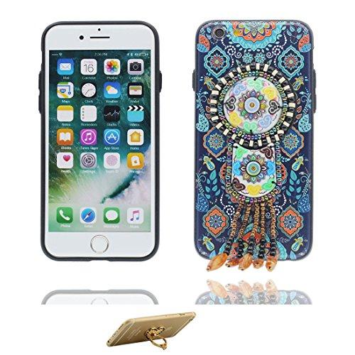 """Coque iPhone 6 Plus, [TPU Soft caractéristiques nationales Pendent fleur] iPhone 6s Plus étui Cover (5.5 pouces), iPhone 6 Plus Case (5.5""""), anti- chocs- Style national ring Support # 3"""