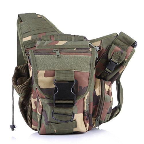 Kameratasche Taktische Militärische Fans Tasche Taschen Outdoor-Freizeit-Schulter-Kurier-Rucksack Sattel 7