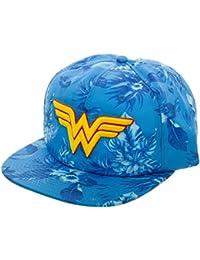 DC Comics Wonder Woman Mono Floral Slouch Adjustable Baseball-Cap
