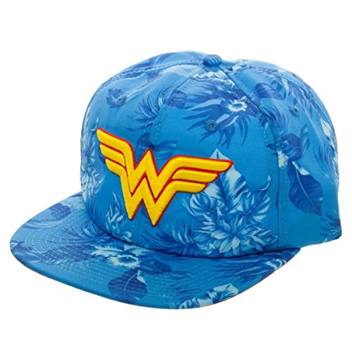 DC Comics Wonder Woman Mono Floral Slouch Adjustable Gorra De Béisbol