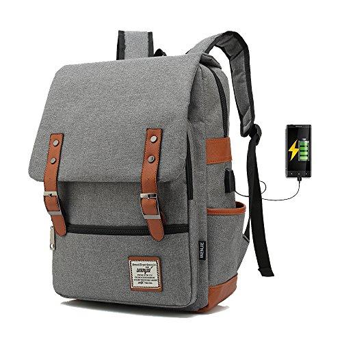bc4685733987d ACPbags 17inch Casual Unisex Waterproof Oxford School Backpack Rucksack  (Gray