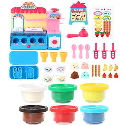 Ice Cream Kinder Kostüm - F Fityle Kunststoff Eisladen Rollenspiel Spielset Kinder Spielzeug für Junge Mädchen ab 3 Jahren