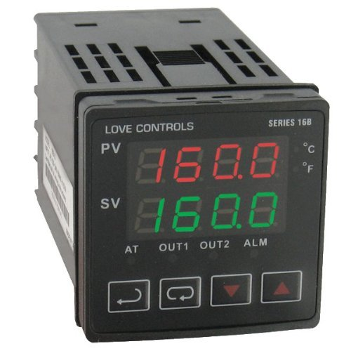 Dwyer Love Series 16B 1/16 DIN Temperature and Process Controller, Relay Outputs 1 and 2 by Dwyer Series Relay