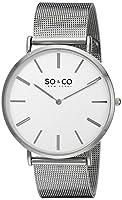 SO & CO New York 5102.2 - Reloj de cuarzo para hombres, plateado de SO & CO New York
