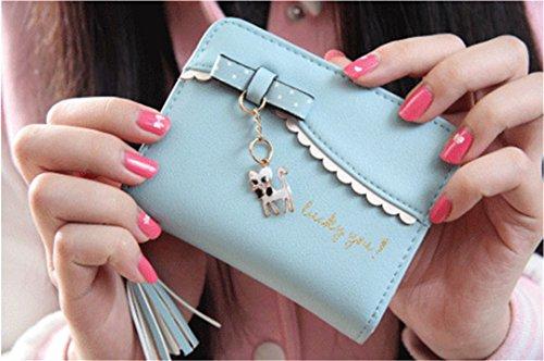 jothin Mode lässig denaro borsa per banconote, con frange, Blau (multicolore) - M-38 Blau