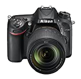 Nikon D7200 24.2 MP Digital SLR Camera (Black) with AF-S 18-140mm VR Kit Lens and 16GB Card, Camera Bag