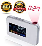 # Premium Quality # LCD Projection Alarm Clock With Weather Station ( WHITE COLOR) - **With FREE USB WIRE ** LIMITED STOCK***