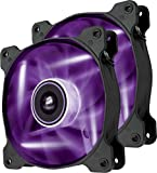 Corsair SP120 LED Ventilateur de Boitier, 120mm, Violet LED (Dual Pack)