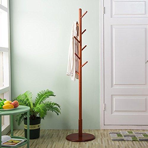 LYQZ Coat Rack Massivholz Standing Schlafzimmer Abnehmbare Roundel Creative Coat Regal (Höhe * Breite: 172 * 40 cm) Weiß (Color : Brown) - Standing Coat Rack