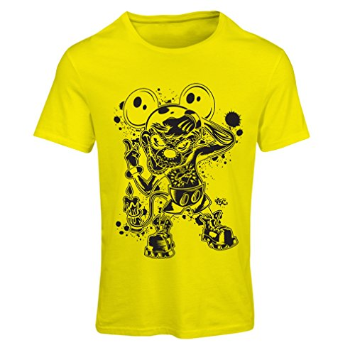 irt Eine Maus mit Einem tollen Halloween-Party-Kostüm (Small Gelb Mehrfarben) ()