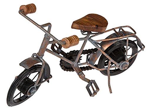 Bada Bing Metallfigur Fahrrad Mit Holz Applikationen Handarbeit Unikat Deko Skulptur Ca. 28 x 18 Cm Dekofigur Geschenk 49