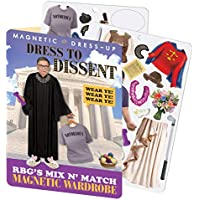 The Unemployed Philosophers Guild RBG Dress to Dissent – Ruth Bader Ginsburg Juego de Vestir magnético