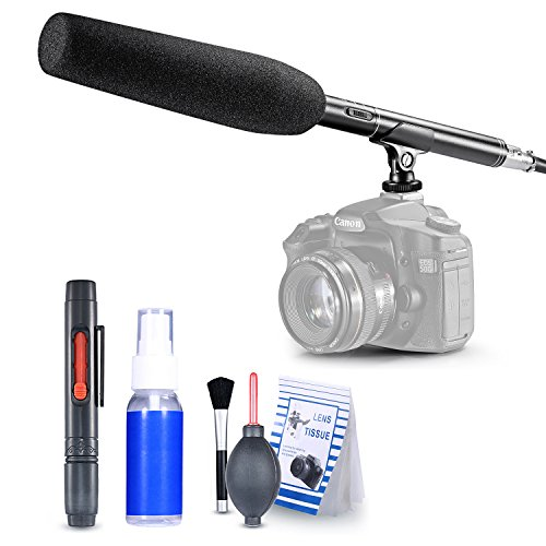 Neewer® 36cm/36cm Kamera Unidirektionale System Pro Kondensator Shotgun Interview Mikrofon + 6-in-1Reinigung-Kit für Canon Nikon Sony Olympus Pentax Panasonic und andere hdslrs (Shotgun Mic Canon)
