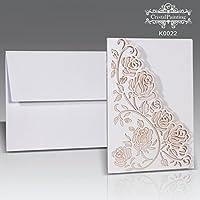 25 Stk. Hochzeitseinladungskarten Set Einladung Hochzeitseinladung Grusskarten, blanko ohne Text und Druck - selbst gestalten - 1 Set enthält 25 Stk Karten