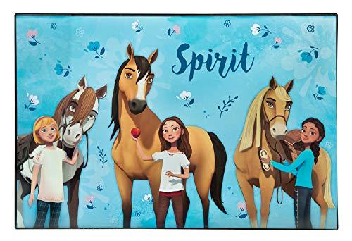 Undercover SIIT3100 Schreibtischunterlage zum Malen und Schreiben, DreamWorks Spirit, ca. 59 x 39 cm, blau-pink