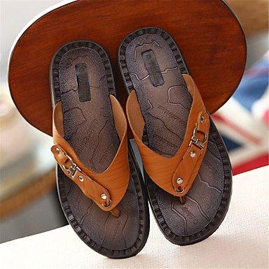 Slippers & amp 2017 nuovi uomini di arrivo;Scarpe Comfort cuoio casuale Heel Flat Light Brown / Da sandali US9.5 / EU42 / UK8.5 / CN43