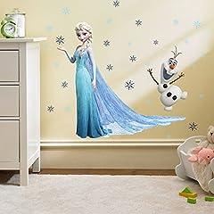 Idea Regalo - Kibi Adesivi Muro Frozen Camera Da Letto Bambini Adesivo Muro Bambini Disney Adesivi Murali Cameretta Frozen stickers Muro Frozen Stickers Muro Elsa Adesivo Da Parete Decorazione Da Parete
