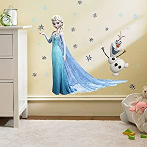 Kibi Wandaufkleber Babyzimmer Eiskönigin (Frozen) Wandsticker Frozen Disney für Kinderzimmer Living Room Removable…