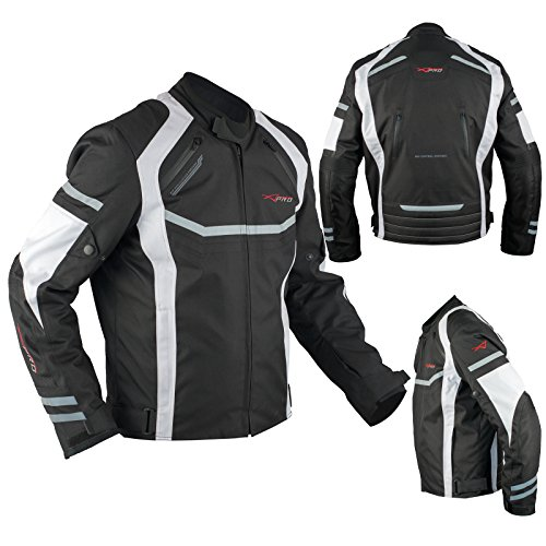 A-Pro Tessile Motor Bike Motor Cycle Vented Sport Waterproof Jacket Vented White XL