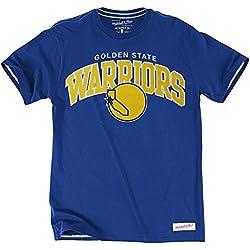 Mitchell & Ness Golden State Warriors Tailored Arch NBA-Camiseta Azul, medium